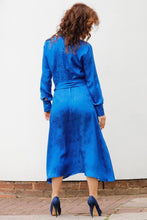 Load image into Gallery viewer, MIDI CHEMISIER DRESS IN SILK -BLUE ROYAL