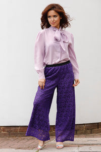 """GIORGIA"" TROUSERS IN PURPLE LACE"