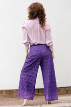 "Load image into Gallery viewer, ""GIORGIA"" TROUSERS IN PURPLE LACE"
