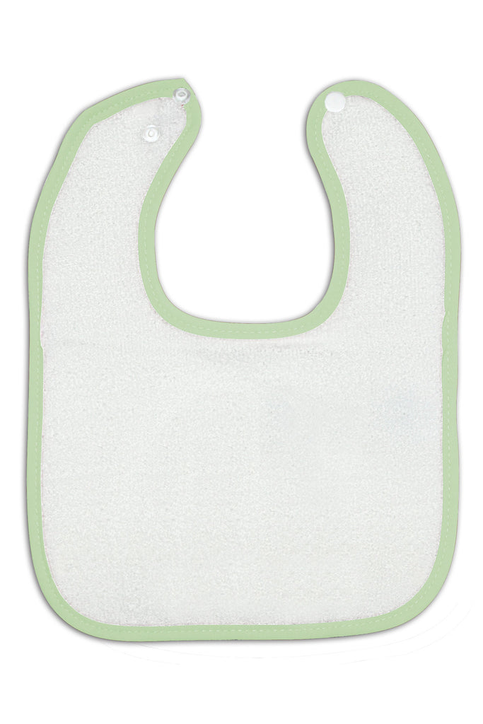 SALE  - Pink, Lt. Blue, & Mint Green Snap Baby Bibs