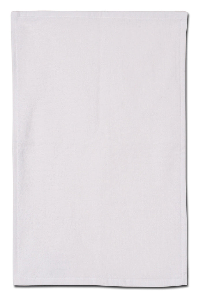 "11"" x 18"" velour white rally, golf towel"