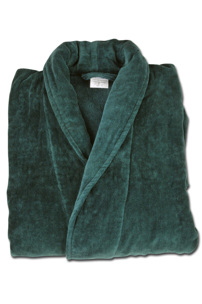 SALE - Bath Robe - Terry Velour Shawl Collar, 13 oz.