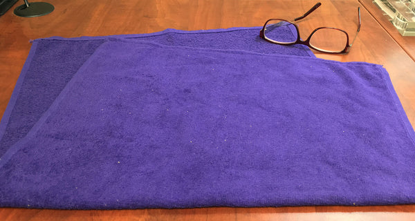 "Purple 16"" x 25"" Velour Towel  - 2.5 lbs/doz -Close Out"