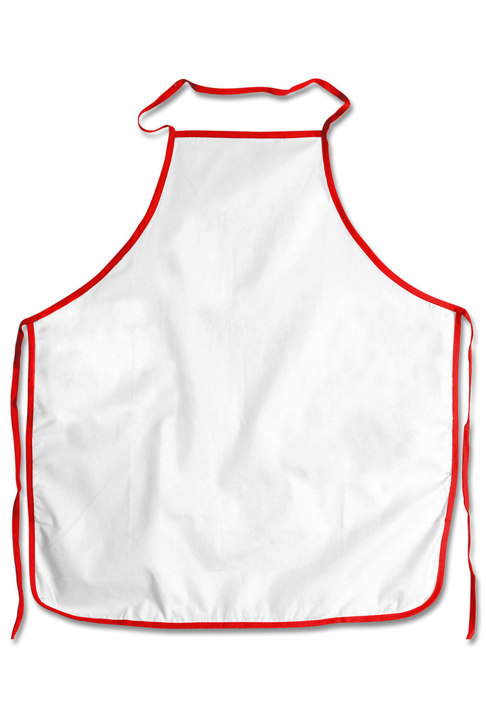apron with colored trim