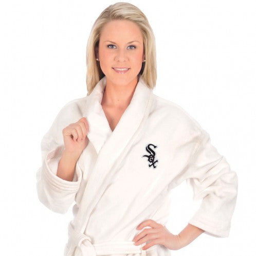 White Sox Bath Robe - Terry Velour Shawl Collar, 13 oz.
