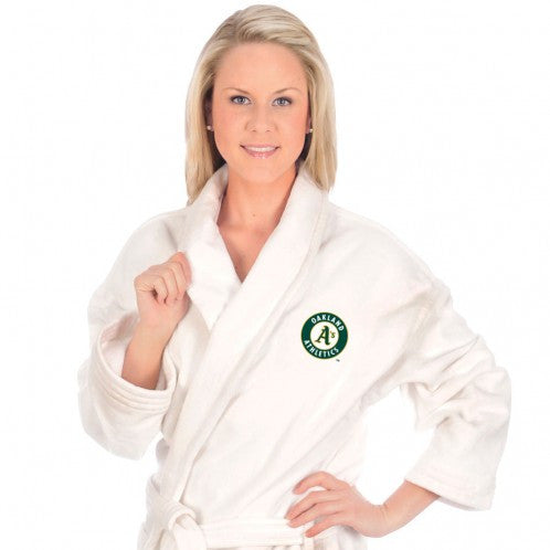 Oakland A's Bath Robe - Terry Velour Shawl Collar, 13 oz.