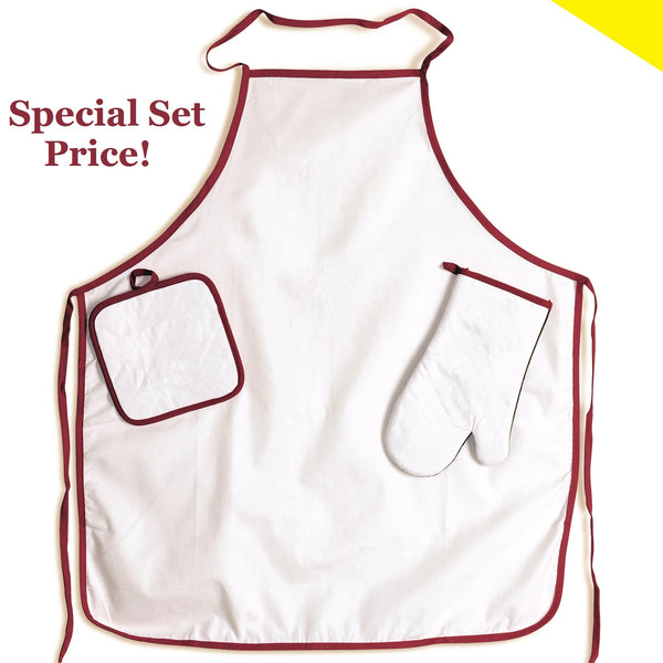 BBQ Set Apron, Mitt, Pad - 50 sets