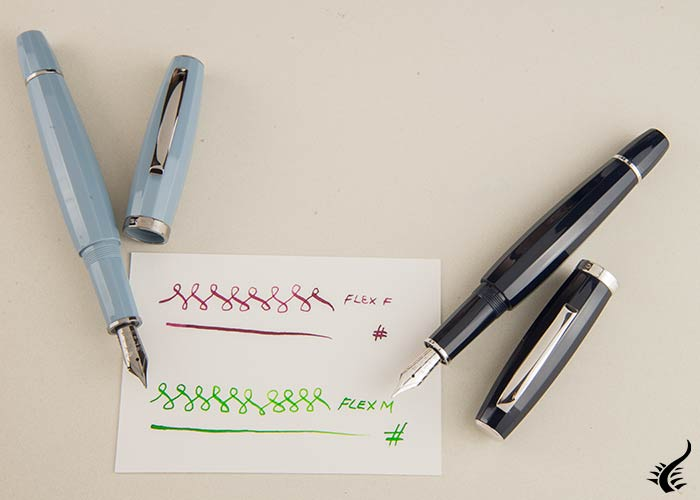 Fountain pen Scribo-Feel,-Blue,-Rutenium,-Nib-Flex,-FEEFP03RT1403