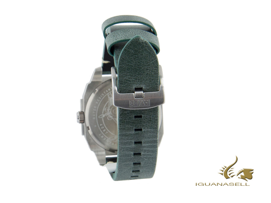AVI-8 Hawker Hunter Day Date Edition Quartz Watch, Green, 45 mm, AV-4057-03 AVI-8 Quartz Watch
