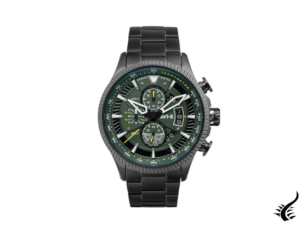 AVI-8 Hawker Hunter Avon Chronograph Graphite Green Quartz Watch, AV-4064-11