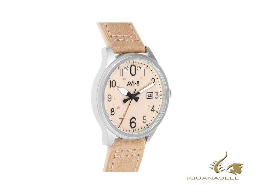AVI-8 Hawker Hurricane Altimeter Edition Quartz Watch, Cream, 43 mm, AV-4053-0H AVI-8 Quartz Watch
