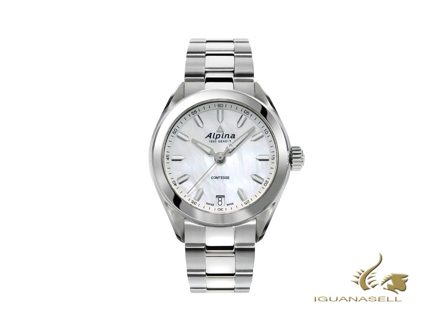 Alpina Comtesse Ladies Quartz Watch, Mother of pearl, 34 mm, AL-240MPW2C6B Alpina Quartz Watch