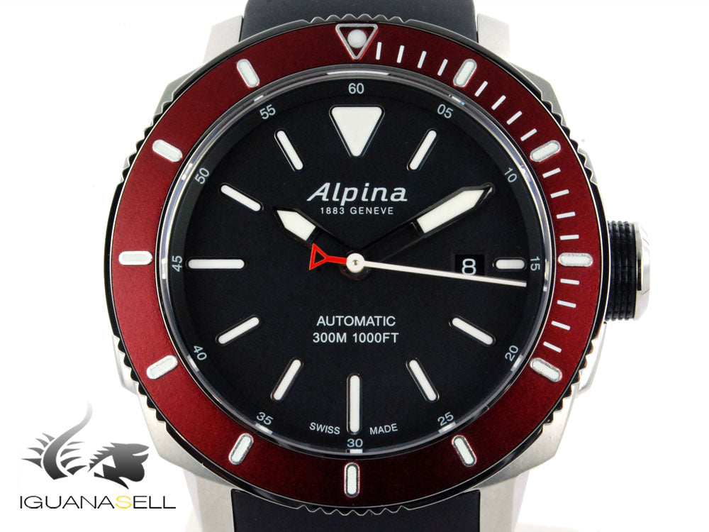 Alpina Seastrong Diver 300 Automatic Watch, AL-525, Black, 44 mm, 30 atm, Day