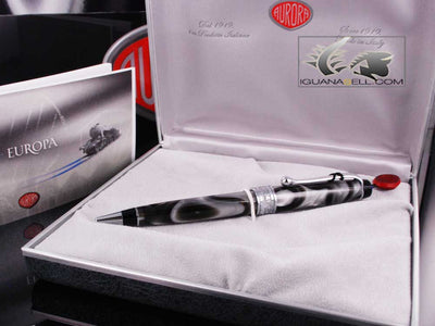 Aurora Europa Ballpoint Pen, Limited Edition, Marbled resin, Chrome trims