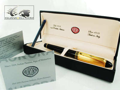 Aurora Ipsilon Fountain Pen Resin & Gold Plated b11DM