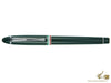 Aurora Ipsilon Italia Rollerball Pen, Resin, Chrome Trim, Green, B77-V