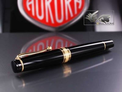 Aurora Rollerball pen Optima - Black Resin & Gold Trims