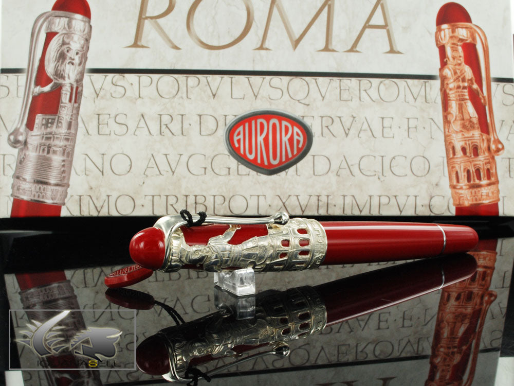 Aurora Roma Fountain Pen, Silver 925, Special Edition, 800AR