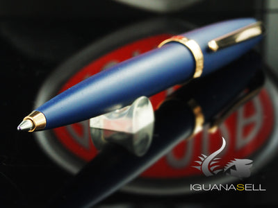 Aurora Style Ballpoint pen, Blue Resin, Rose gold trim, E40PB