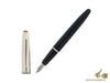 Aurora Style Fountain Pen, Resin, Chrome trim, Black, E17