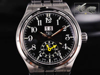 Ball Trainmaster Automatic Dual Time Watch, Black, 41mm, Bracelet, GM1056D-SJ-BK