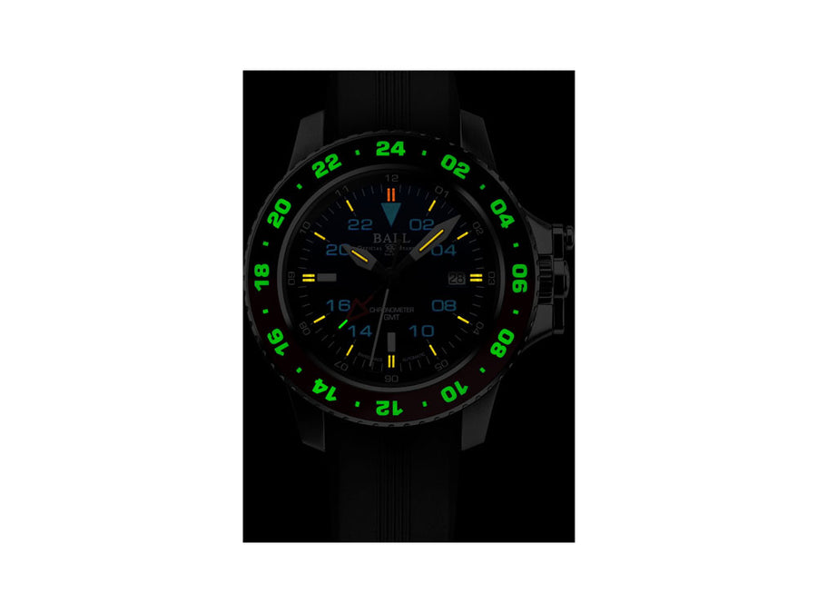 Ball Engineer Hydrocarbon AeroGMT II Automatic Watch, COSC,  DG2018C-P3C-BK Ball Automatic Watch