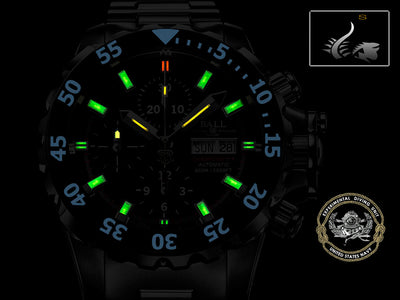 Ball Engineer Hydrocarbon NEDU Watch, Titanium, Cronograph,  DC3026A-PC-BK, COSC Ball Automatic Watch
