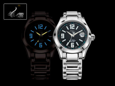 Ball Engineer II Arabic Watch, Ball RR1103, Black, Steel bracelet, 40mm.