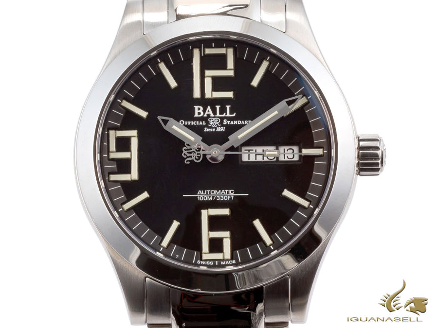 Ball Engineer II Genesis Automatic Watch, Ball RR1102, Black, 40mm, Bracelet Ball Automatic Watch
