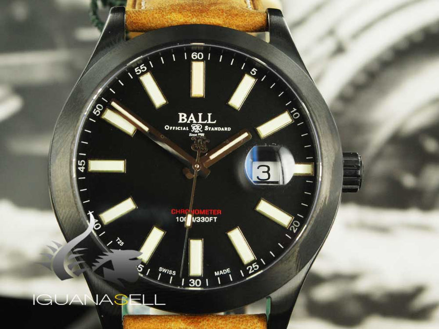 Ball Engineer II Green Berets Automatic Watch, Ball RR1103-C, Black, COSC, 43mm Ball Automatic Watch