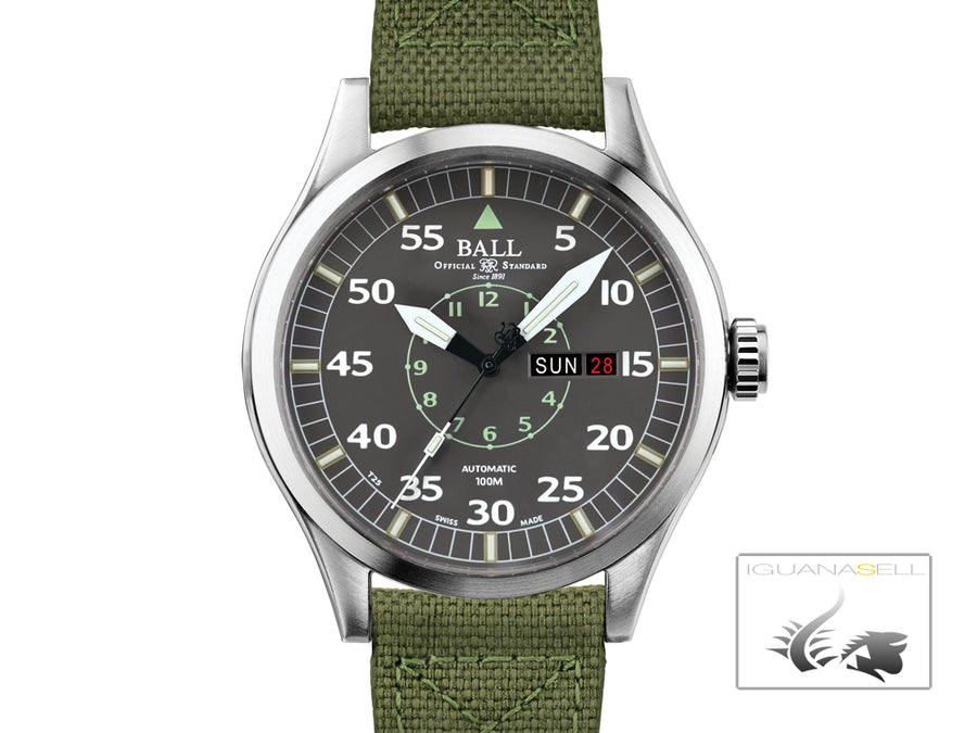 Ball Engineer Master II Aviator Watch, Ball RR1102, Grey, NM1080C-S5J-GY