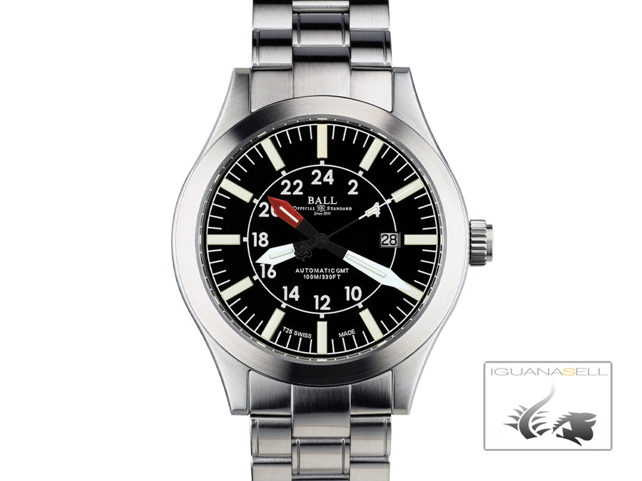 Ball Engineer Master II  Aviator GMT Automatic Watch, RR1201, GM1086C-SJ-BK