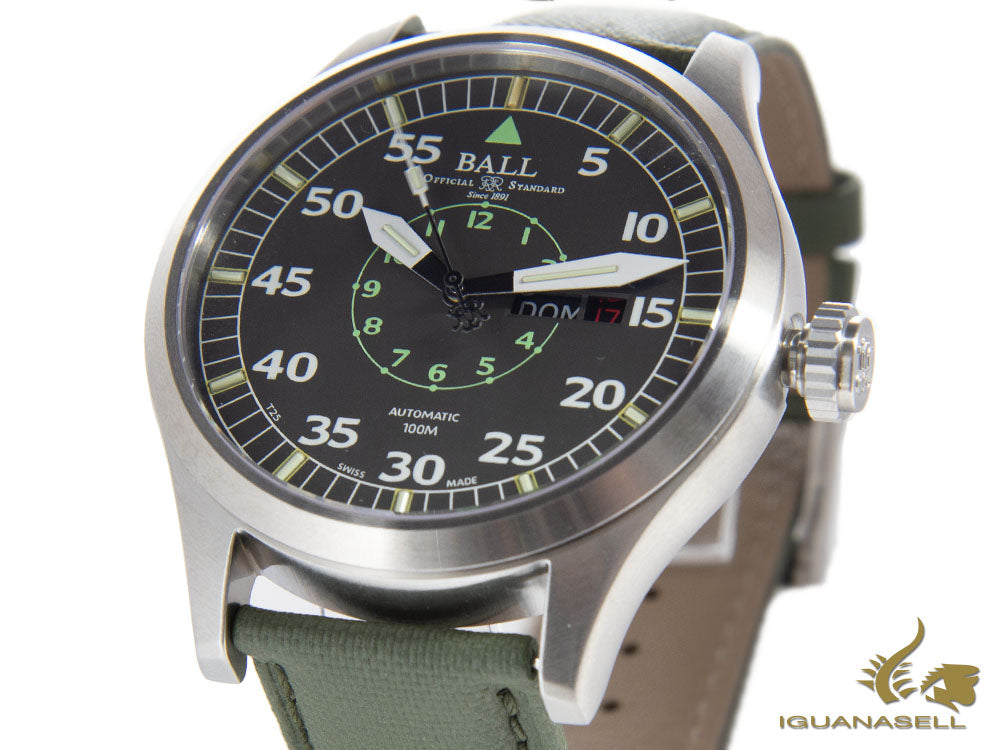 Ball Engineer Master II Aviator Watch, Ball RR1102, 46mm, Grey, NM1080C-L5J-GY