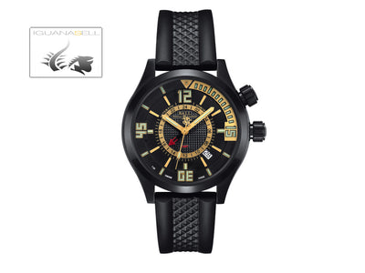 Ball Engineer Master II Diver GMT Watch, Ball RR1202, Black, Rubber strap,
