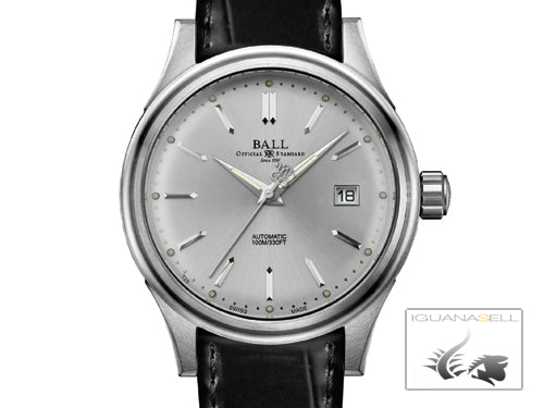 Ball Fireman Classic Automatic Watch, Stainless steel,  NM2098C-PJ-WH