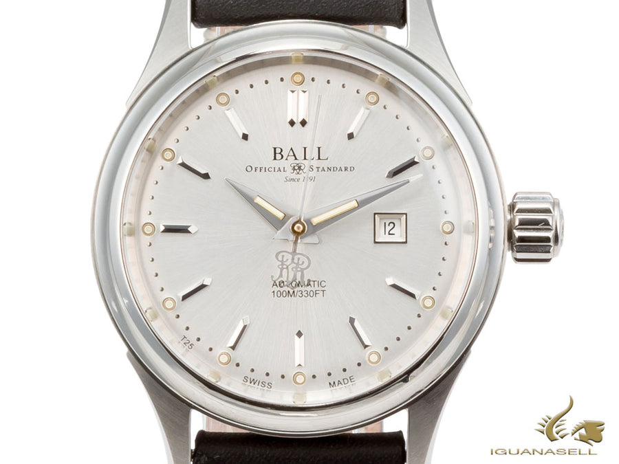 Ball Fireman Classic Ladies Automatic Watch, Stainless steel,  NL2098C-LJ-WH Ball Automatic Watch