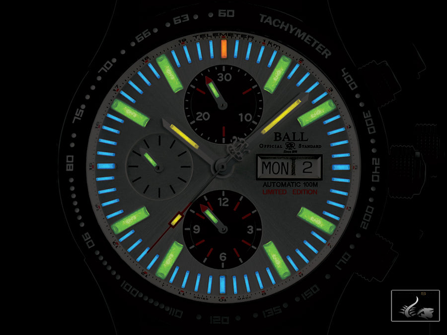 Ball Fireman Storm Chaser DLC Glow Watch, Steel, Cronograph,  Lim.Edition