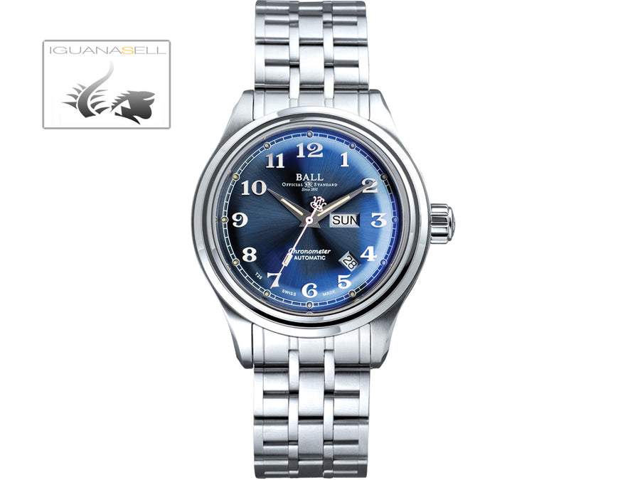 Ball Trainmaster Cleveland Express Watch, Blue, Steel bracelet, COSC Ball Automatic Watch