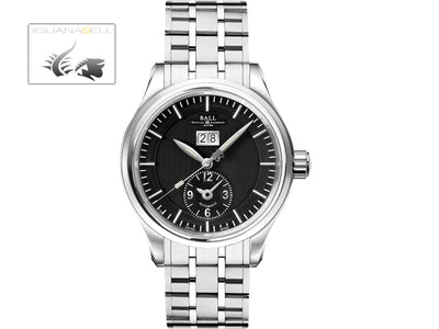 Ball Trainmaster First Flight Watch, Black, Steel bracelet, Limited Edition,