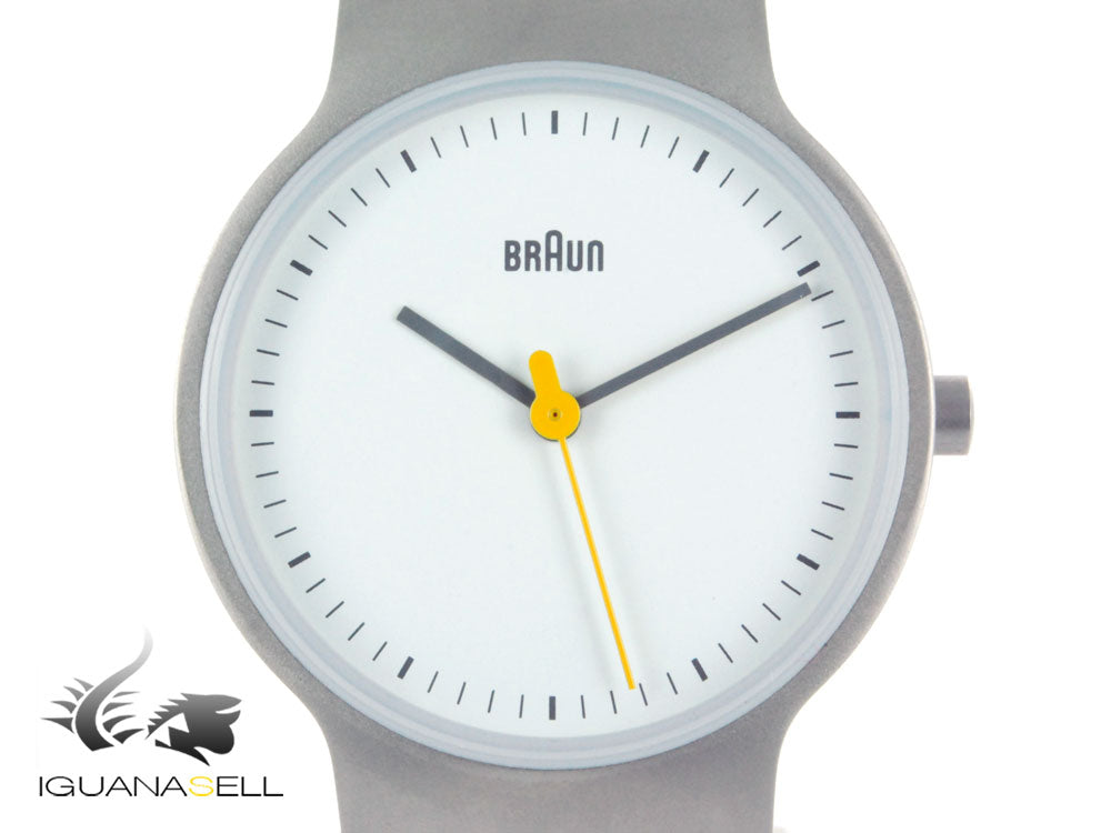 Braun Classic Ladies 3 Hands Quartz watch, Grey matt, 32mm, BN0211-SLBTL
