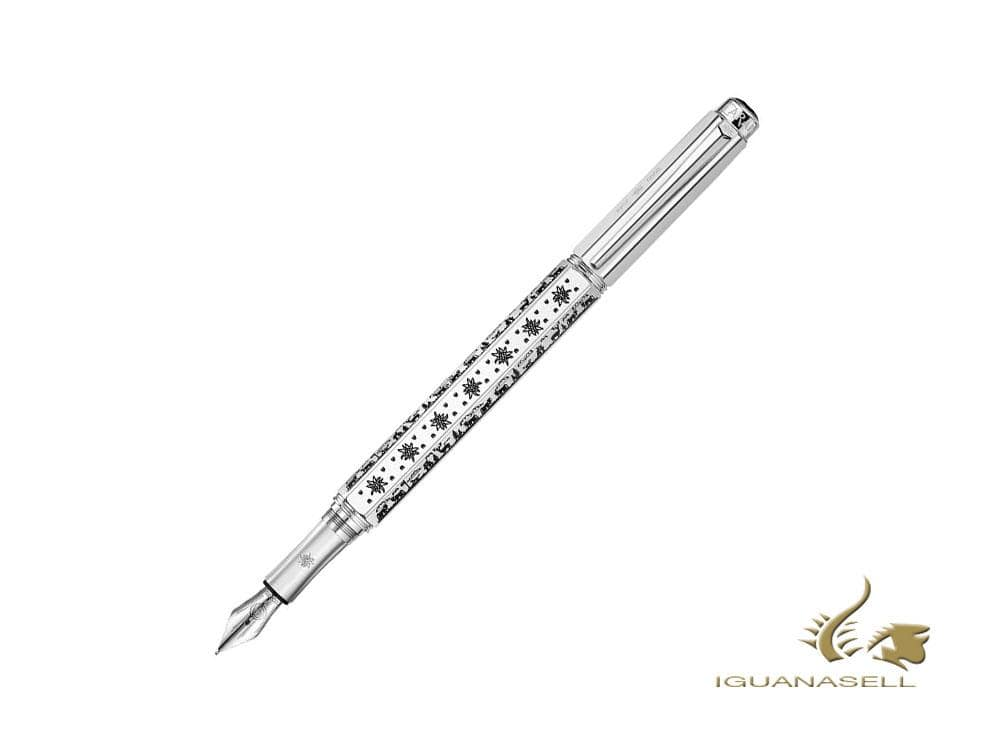 Caran d´Ache OberalpFountain Pen, Silver, Limited Edition, 1651.481 Fountain Pen