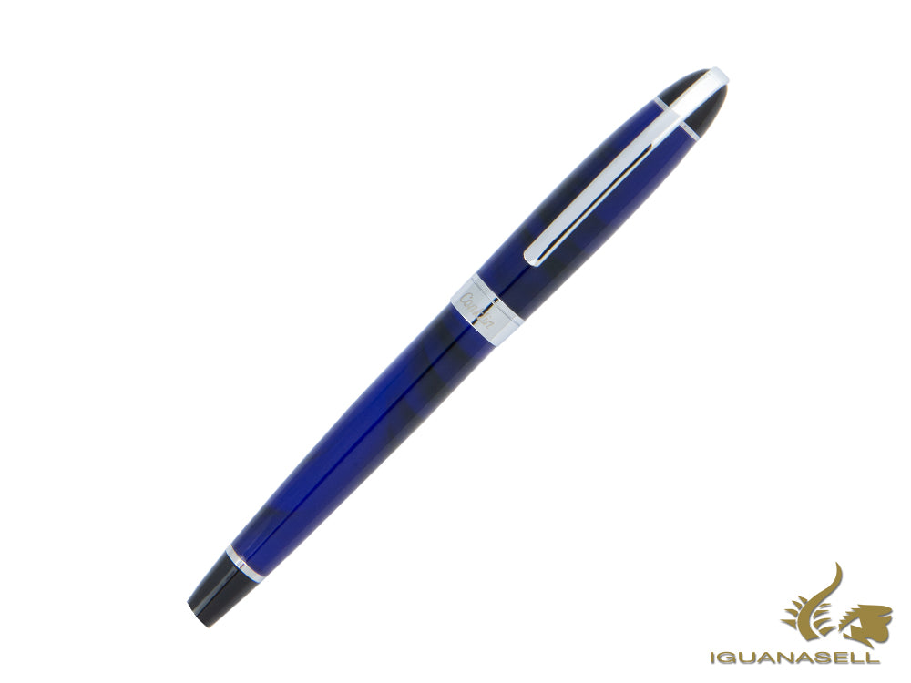 Conklin Victory Royal Blue Fountain Pen, Resin, Chrome, CK71500