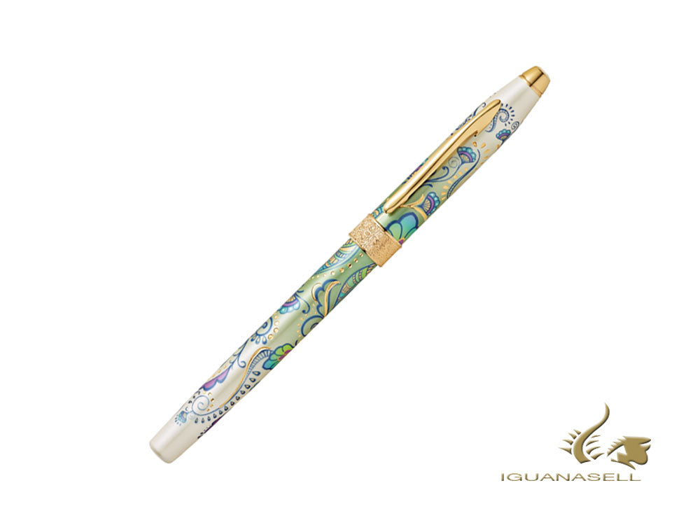 Cross Botanica Daylily Fountain Pen, Lacquer, Green, 23K Gold, AT0646-4