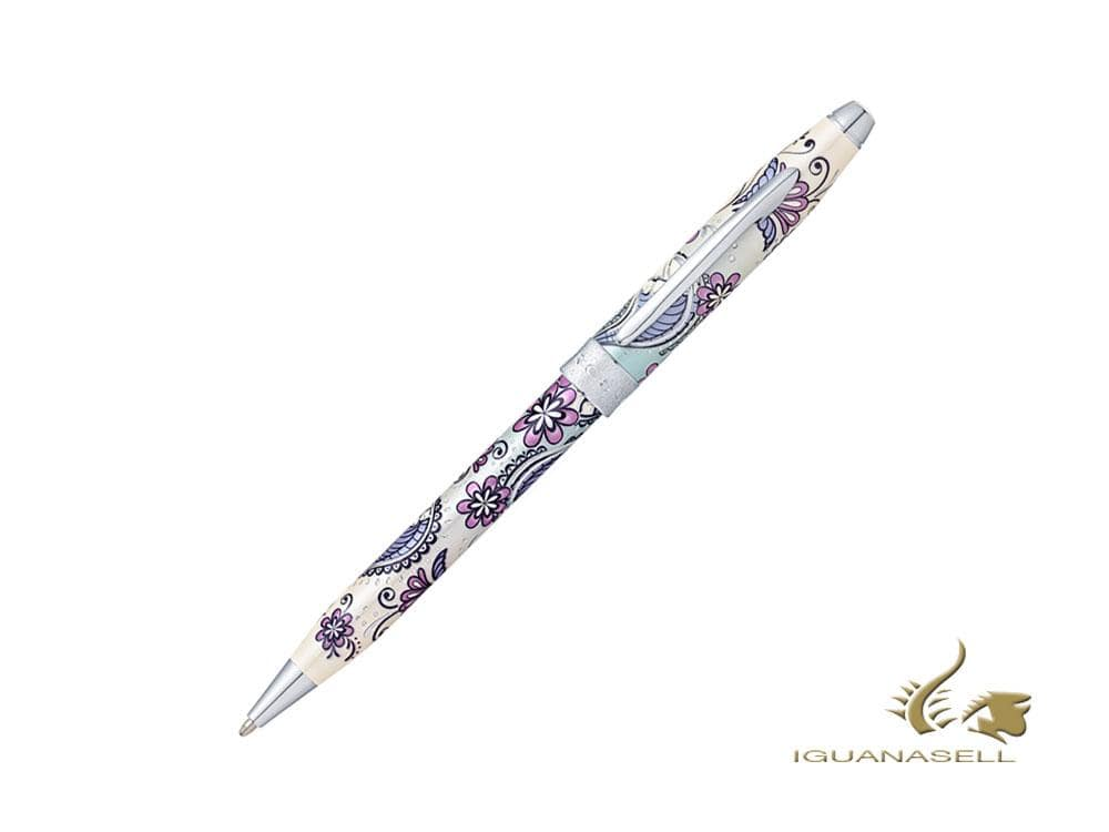 Cross Botanica Purple Orchid Ballpoint pen, Lacquer, Chrome Trim, AT0642-2 Ballpoint pen