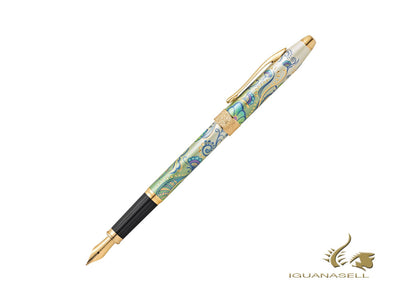 Cross Botanica Rollerball pen, Green Daylily, 23K Gold Trim, Printed, AT0645-4