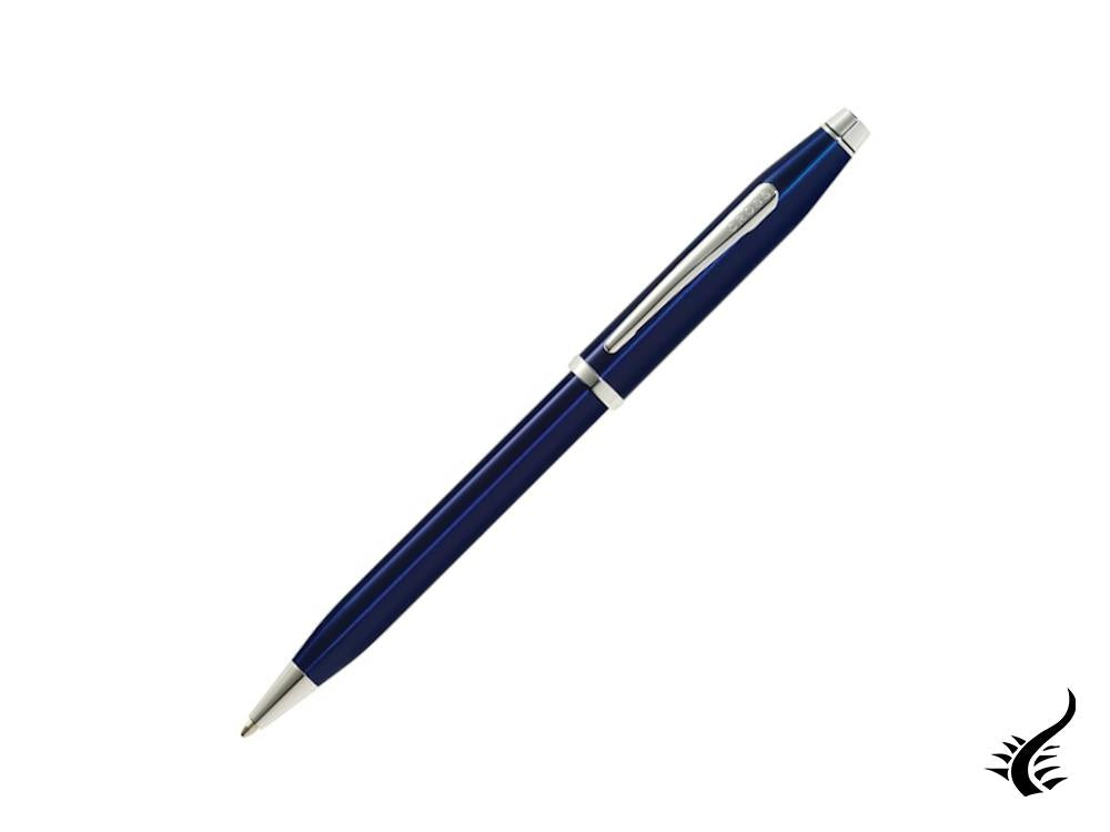 Cross Century II Ballpoint pen, Lacquer, Blue, Polished, Rhodium, AT0082WG-103