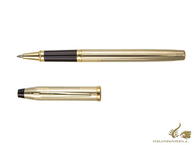 Cross Century II Rollerball pen, 10K Gold Filled, Gold trim, Ribbed, Polished