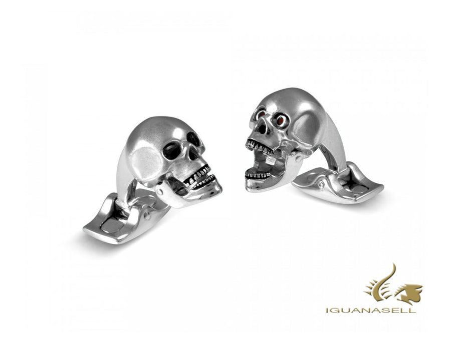 "Deakin & Francis Dare to wear ""Skull Head"" Cufflinks, Silver, BMC0106C0021 Deakin & Francis Cufflinks"