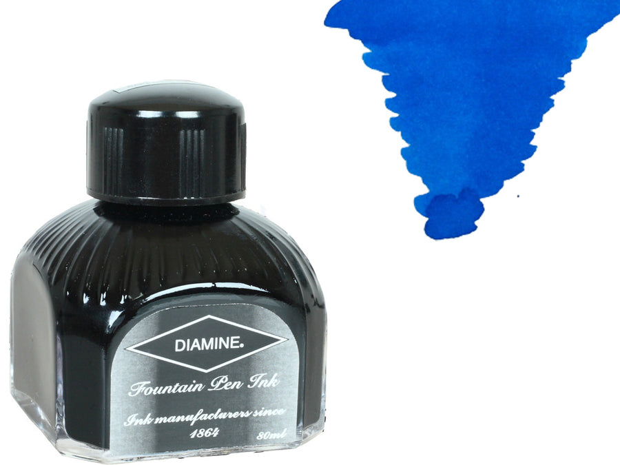 Diamine Ink Bottle, 80ml., Jade Green, Italyan crystal bottle Diamine Ink Bottle