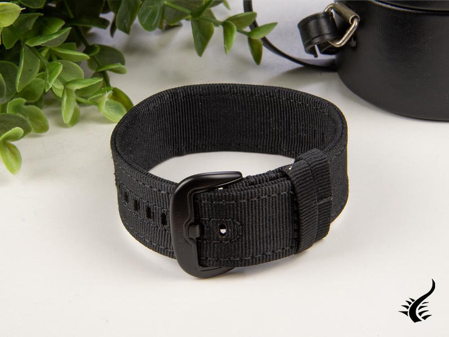 Dietrich Straight Strap, Nylon, Black, 24mm, Buckle, PVD Dietrich Strap